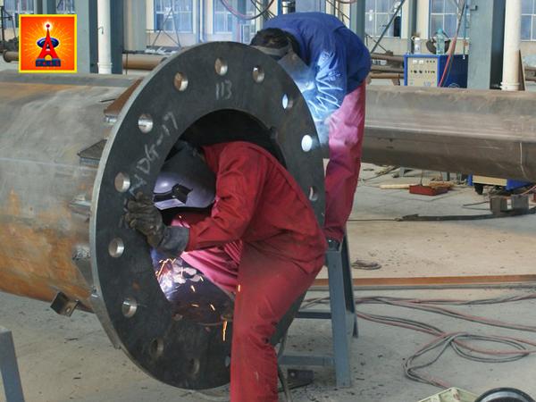 单管塔底座焊接